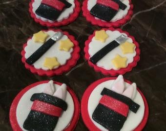Edible Magician Cupcake Toppers