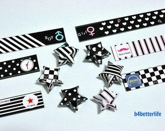 180 strips of DIY Origami Lucky Stars Paper Folding Kit. 26cm x 1.5cm. #K008. (XT Paper Series).