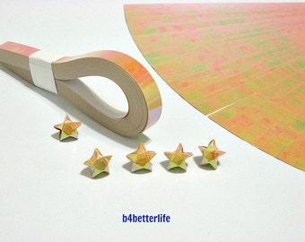 200 Strips Goldenrod Color Mini Size Lucky Stars Origami Paper Kits. 24.5cm x 1.0cm. (AV paper series). #SPK-125.