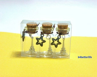 3pcs Eiffel Tower In A Bottle. Ideal Party Favors. #G4.