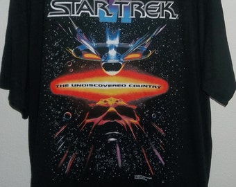 Vintage Star Trek, The Undiscovered Country 1991 Paramount Pictures Shirt, Size XL