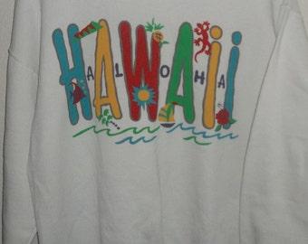 Vintage Aloha Hawaii Sweatshirt Size Large