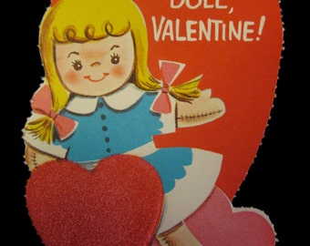 Vintage Valentine's Day Unused Card