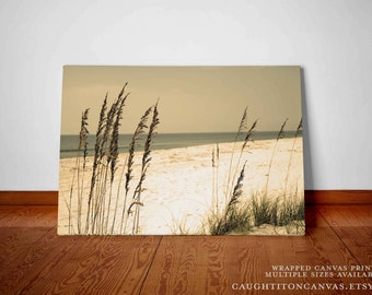 Sepia beach wall print nature home decor landscape sand sandy photograph photo rustic bedroom nursery vacation home decal art print large