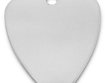 Engraved / personalised Anodized guitar pick / plectrum in gift pouch - C8SLR