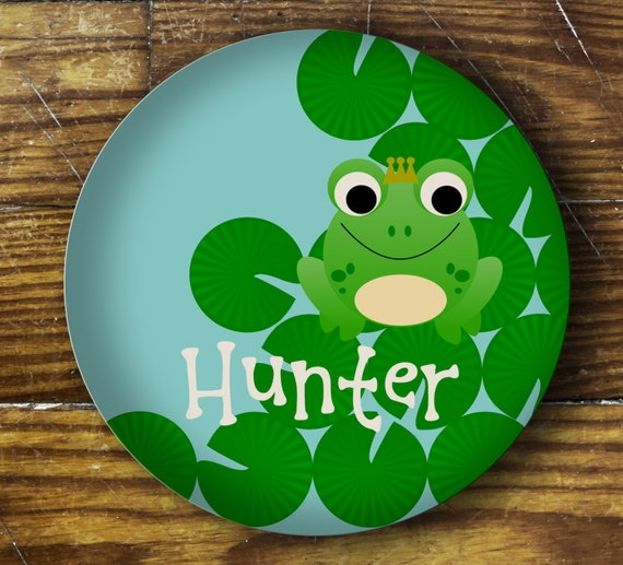 Personalized Melamine Plate-Frog