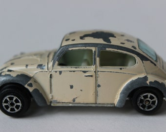 Yatming Vintage White Volkswagen Beetle Bug die cast toy car Tiny VW Bug 1960s 1970s vintage toy car hotwheel cars collectible toy cars