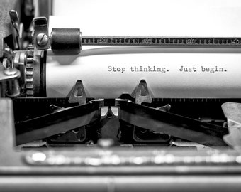 Motivation, Typewriter, Photo, Fine Art Print, 8X12, Quote, Typography, Wall Art, Office Art,