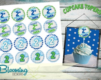 PRINTABLE - Bubble Cupcake Toppers