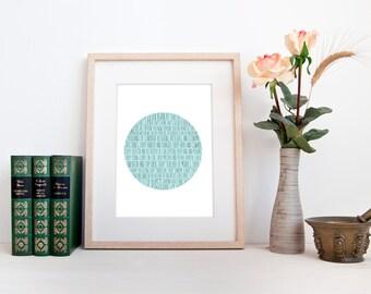 Carl Sagan - Pale Blue Dot, DIGITAL DOWNLOAD, minimalist typography print poster, Sagan quote print, study office dorm wall art home decor