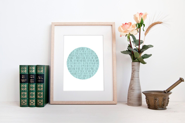 Minimalist Classroom Rules ~ Carl sagan pale blue dot digital download minimalist