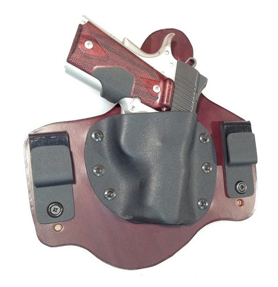 IWB Hybrid Leather & Kydex Holster for Kimber Ultra Carry II