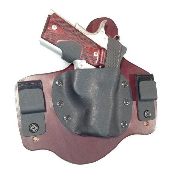 IWB Hybrid Leather & Kydex Holster for Kimber Ultra Carry II