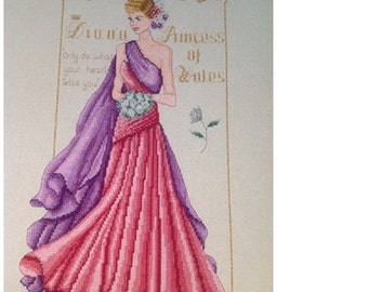 Diana Princess of Wales- PDF Modern Counted Cross Stitch Chart Pattern Instant Download