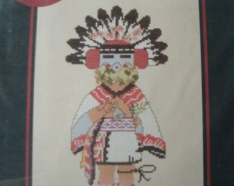 Talavai-i - Morning Singer Kachina No. 1002 Counted Cross Stitch Graph From Canyon Crafts American Indian Motif NEW GRAPH