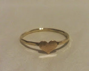 Heart stacking ring/ Nu gold minimalist ring