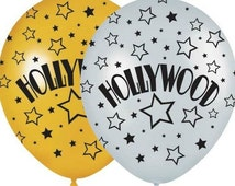 Hollywood Balloons, Oscars Party Balloons, Movie Night Balloons, Star Balloons, Theater Balloons