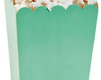 Mint Popcorn Boxes, Mint Mini Popcorn Boxes Treat Boxes Favor Boxes, Light Green Boxes