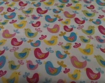 Bird fabric. Chirpy Birdie fabric - 100% cotton