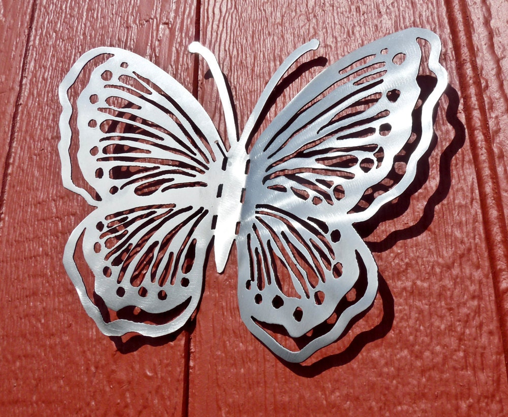 butterfly metal wall art style 1 metal art home decor. Black Bedroom Furniture Sets. Home Design Ideas