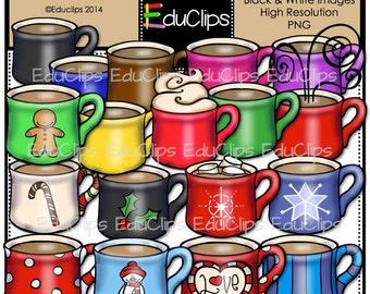 Hot Cocoa Clip Art Bundle
