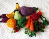 Fruits and veggies toy set - Custom order