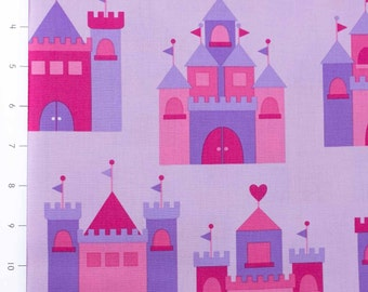 Princess Life Castles Pink by Anne Kelle for Robert Kaufman