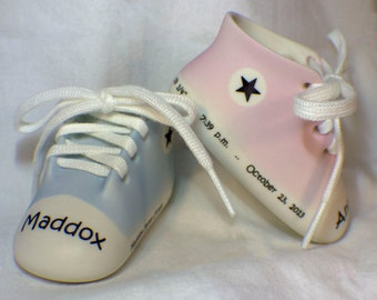 Personalized Porcelain Sneaker with Birth Statistics