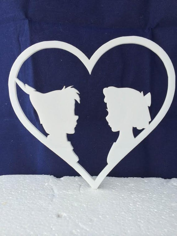 peter pan and wendy wedding cake topper pan and wendy disney cake topper by etchspressyourself 18306