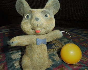 vintage original Limmer Mouse with Ball Wind up toy (1950's)