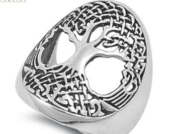 Tree of Life Ring Solid 925 Sterling Silver Tree of Life Ring Spiritual Gift Tree of Life Jewelry