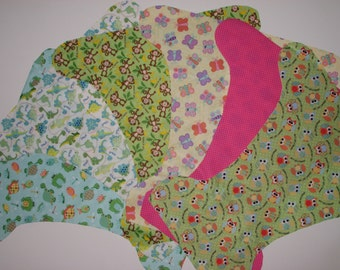 make your own cloth diaper kit, diy PUL diaper cover, medium, no pattern needed