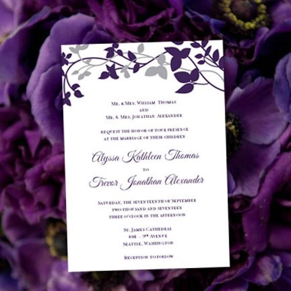 Printable Wedding Invitation Template Forever