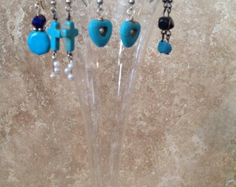 FREE SHIPPING! Turquois earrings collection