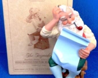"1987 Toymaker Second In Series ""Blueprint For Christmas"" Hallmark Figurine"