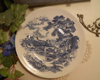 "Set of 5 Vintage Enoch Wedgwood Countryside 10"" Dinner Plates Tunstall"
