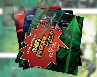 Arrow (DC Comic) Inspired Birthday Printable Invitation