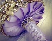 Classic Rich Gold Lilac Lavender Purple Ivory Swarovski Crystal Brooch Bouquet. FULL PRICE Amber Topaz Lilac Swarovski Pearl Broach Bouquet.