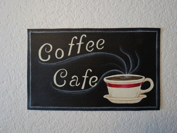 coffee cafe sign coffee wall art coffee sign coffee decor. Black Bedroom Furniture Sets. Home Design Ideas