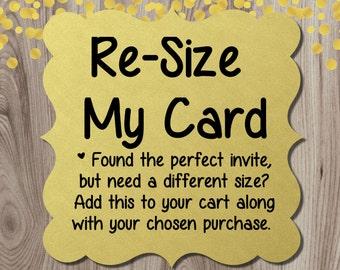 Re-Size my card DIY Printable