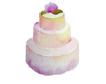 Clipart Wedding Cake for Invitations and Bridal Shower Stationery