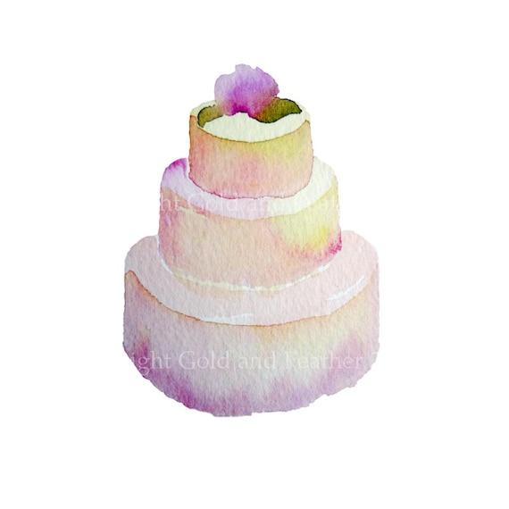 Cake Art Definition : Wedding Cake Clip Art Printable Pale Pink Gold Cream
