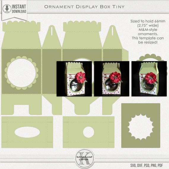 Ornament Display Gable Box Tiny SVG, PSD, PDF +