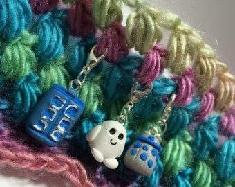 Doctor Who Stitch Marker Set (of 3)