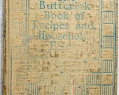 1927 The Butterick Book of Recipes and Household Helps Cook Book