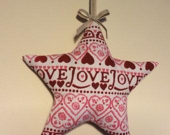 Beautiful Lavender Star in Emma  Bridgewater Pink Love Sampler fabric