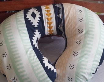 Tribal Boppy Cover. Boppy Slipcover. Baby Bedding. Nursing Pillow Cover.