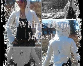 White Hooded Elvin Jacket