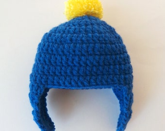 Craig Tucker Hat South Park Beanie  - Newborn to Adult Halloween / Cosplay / Baby Shower Wig