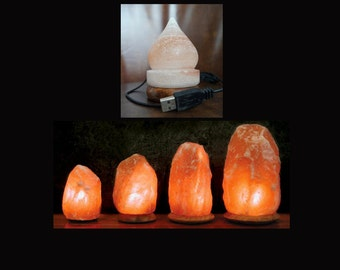 USB Air Purifier Himalayan Salt Lamp by PureHimalayan on Etsy